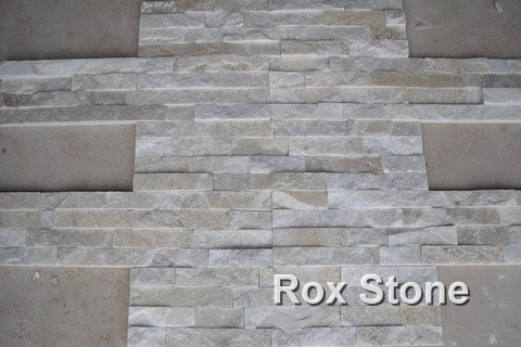 White Quartzite stacked stone veneer