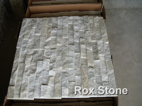 White Quartzite culture wall Stone