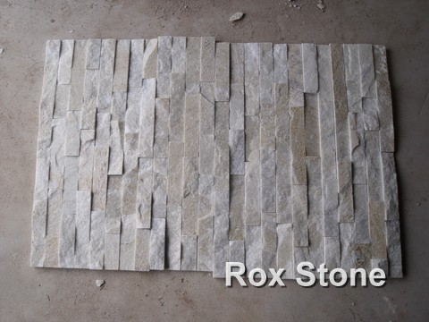 White Quartzite cultured Stone