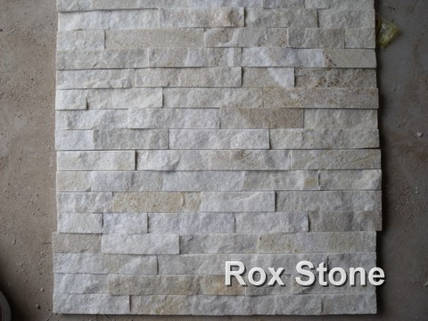 Golden White Quartzite cultured stone