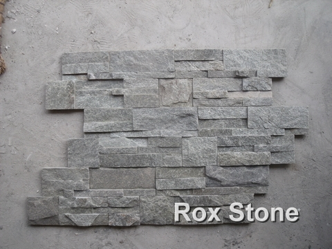 green Quartzite Cultured Stone veneer S shape