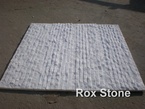 Pure White Quartzite Ledge Wall Cladding Stone