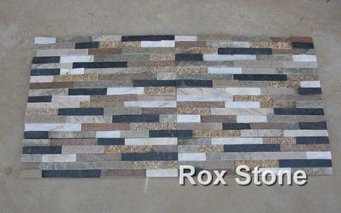 Mixed Color Quartzite Ledge Wall Stone Panel