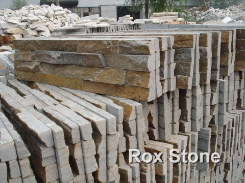 Rusty Rough Surface Quartzite Wall Stone Veneer