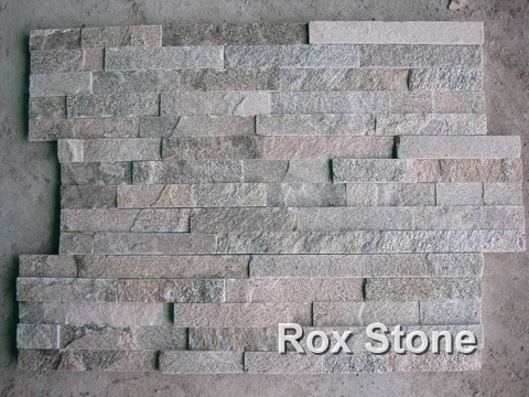Pink Quartzite Cultured Stone 60*15cm Bricks