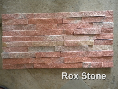 Red Quartzite Cultured Stone 60x15cm Panel