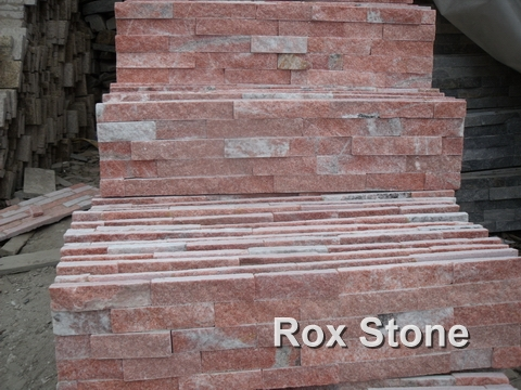 Red Quartzite Stacked Stone Veneer
