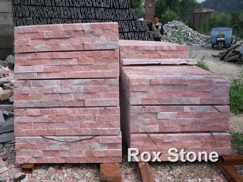 Red Quartzite Wall Cladding Stone