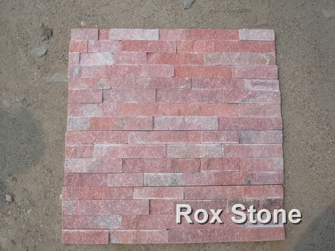 Red Quartzite Cultured Stone 60*15cm Bricks