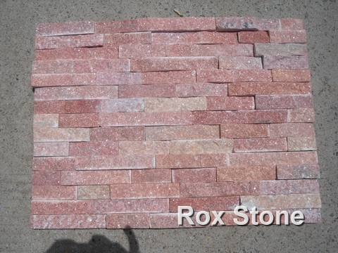 Red Quartzite Cultured Stone Panel