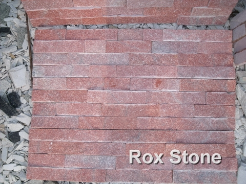 Red Quartzite Cultured Stone Veneer