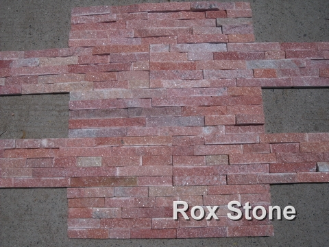 Red Quartzite Cultured Stone 60*15cm