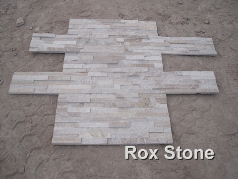 Sliver sands Quartzite Stacked Stone Veneer
