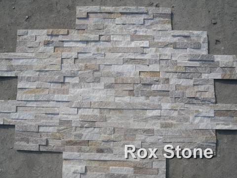 Sliver Quartzite Cultured Stone Wall Stone
