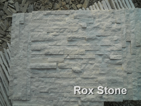 Pure White Quartzite cultured stone package