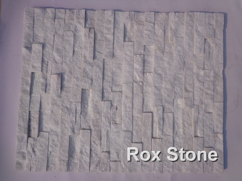 Pure White Quartzite cultured stone