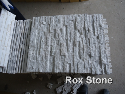 Pure White Quartzite glued veneer