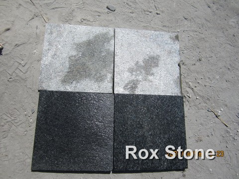 flamed black and green Quartzite Tiles