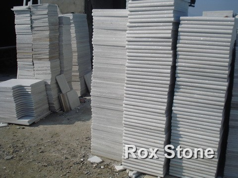 White Quartzite Tiles Flamed Surface Slabs