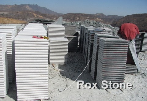 flamed White Quartzite Tiles
