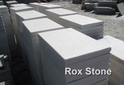 White Quartzite Stone flooring tiles
