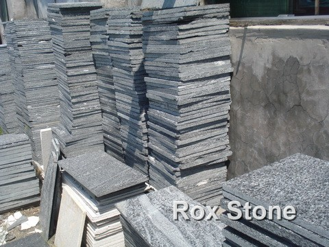 Low Cost Black Quartzite Stone Tiles