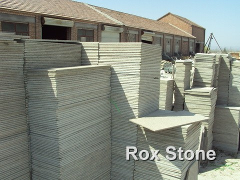 Pink Natural Quartzite Tiles in factory