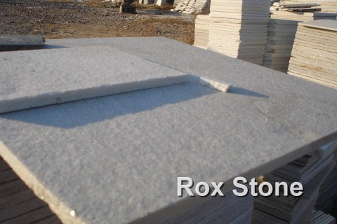White Quartzite Tiles Flamed Surface
