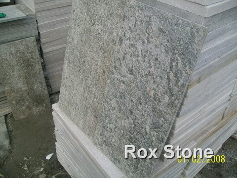 honed surface Green Quartzite Tiles