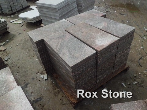 Pink Quartzite Tiles In Stocks