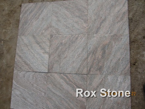 honed surface Pink Quartzite Tiles
