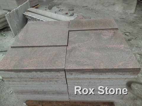flamed Pink Quartzite Tiles